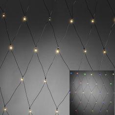 Außen-LED-Lichternetz, mit Lichtsensor, Timer, LEDs 2 Farben
