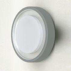 Außenleuchte für Wand oder Decke, Aluminium in silber