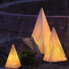 Außenleuchte Pyramide mit Sandsteinbeschichtung in 3 Größen