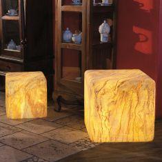 Außenleuchte Würfel mit Sandsteinbeschichtung, 2 Größen