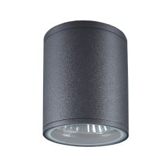 Außenleuchte - Rundes Downlight in moderner Optik -  Anthrazit anthrazit, 13,80 cm
