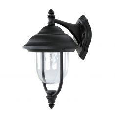 Außenwandleuchte in  Schwarz , klassische Form 1x 60 Watt, schwarz
