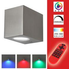 Außenwandleuchte inklusive RGB-LED und Fernbedienung