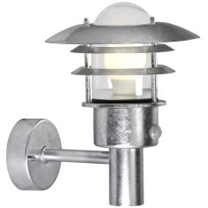 Außenwandleuchte mit Sensor, nordischer Stil, verzinkt - 27 cm