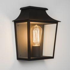 Außenwandleuchte in Schwarz mit Klarglas - IP44 - inklusive Leuchtmittel 1x E27 60W