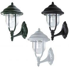 Außenwandleuchte in Weiß, Grün oder Schwarz, klassische Form