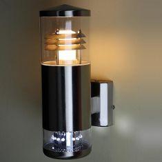 Aussenwandleuchte aus Edelstahl mit 16 LEDs als Downlight, Energie sparend, LED inklusive - Energiesparleuchtmittel nicht inklusive