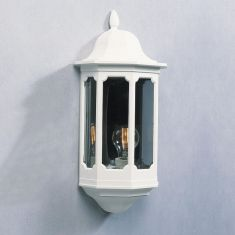 Aussenwandleuchte in klassischer Form mit rauchfarbenem Acyrlglas - in 2 Farben