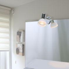 Badezimmer Spiegelleuchte 3er Set Aquatic mit Glas