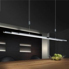 Bankamp Pendelleuchte L-lightLINE Nickel-matt/Chrom
