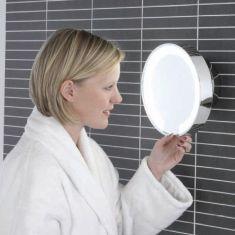 Beleuchteter Kosmetikspiegel, Chrom, Gelenkarm