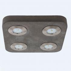 Beton  LED Deckenstrahler Cool, 4 x LED 5W