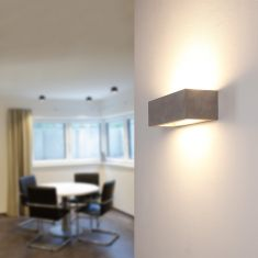 Beton-Optik Gipswandleuchte Korytko30 Up & Downlight hell betongrau/hellgrau