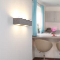 Beton-Optik Gipswandleuchte Korytko50 Up-and Downlight dunkel betongrau/dunkelgrau
