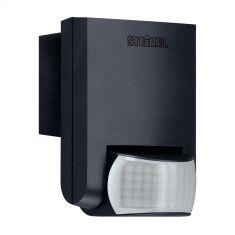 Bewegungsmelder mit Infrarot - Sensor - für Innen und Außen - in der Farbe schwarz schwarz