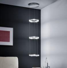 B-Leuchten LED Pendelleuchte - drei beleuchtete Ringe