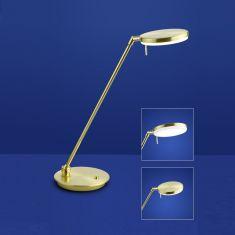 B-Leuchten LED Tischleuchte Omega in messing oder nickel