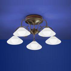 B-Leuchten LED-Deckenleuchte Bianca in braun