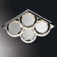 B-Leuchten LED-Deckenleuchte Cascade, 28 x 28 cm 4 flammig