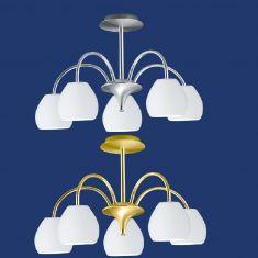 B-Leuchten LED-Deckenleuchte Centurion in Nickel oder Messing