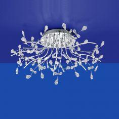 B-Leuchten LED-Deckenleuchte Crystal Ø 77 cm Chrom
