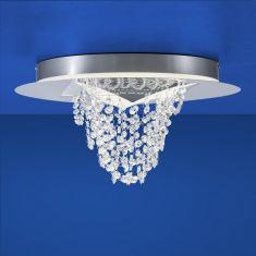 B-Leuchten LED-Deckenleuchte Gloriette Kristall Chrom