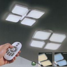 B-Leuchten LED-Deckenleuchte Ottawa mit Fernbedienung