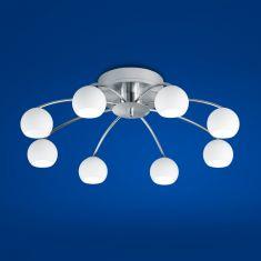B-Leuchten LED-Deckenleuchte Verona Nickel matt / Chrom