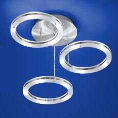 B-Leuchten LED-Deckenleuchte - drei beleuchtete Ringe