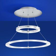 B-Leuchten LED-Deckenleuchte, zwei beleuchtete Ringe