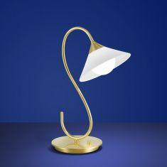B-Leuchten LED-Tischleuchte Bianca Messing