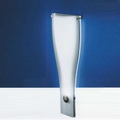 B-Leuchten LED-Wandleuchte aus sandgestrahltem Flachglas