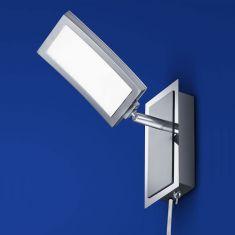 B-Leuchten LED-Wandleuchte Lucca Nickel-matt / Chrom