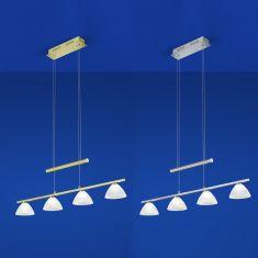 B-Leuchten LED-Zugpendelleuchte 4-flammig Asti 2 Farben