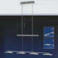 B-Leuchten LED-Zugpendelleuchte Dyn in Nickel-matt
