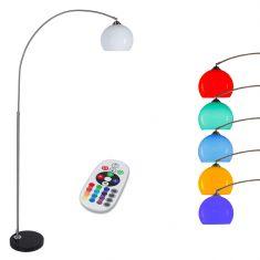 Bogenstehleuchte mit LED RGB Leuchtmittel und Fernbedienung