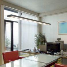 Büro Pendelleuchte - Aluminium - Diffusor aus Kunststoff