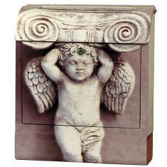 Briefkasten Engel aus Stahlblech mit Sound, Sonderlackierung, Digitaldruck