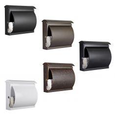 Briefkasten mit integriertem Zeitungsfach, 5 fache Farbauswahl