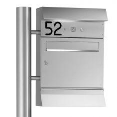 Briefkastenanlage mit LED-Leuchte, zum Andübeln oder Einbetonieren