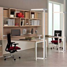 Büro-LED Stehleuchte Office II mit Drehdimmer H195cm