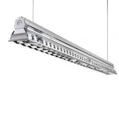 Büro-Raster-Deckenleuchte - Aluminium - 2-flammig - 2 x 80 Watt