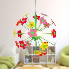 Bunte Kinderzimmer Pendelleuchte -  bunte Blumenwiese