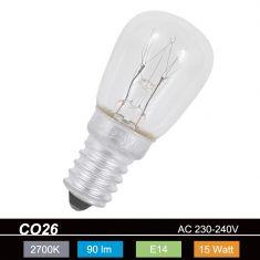 CO26, E14, 15 Watt, klar, Birnenform 1x 15 Watt, 15 Watt, 90,0 Lumen