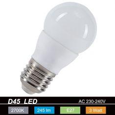 D45 LED E27 Tropfen 3 Watt  245lm 2700K