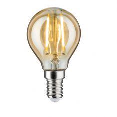 D45 LED Tropfen 2,5 Watt E14 Gold 230 V Warmweiß