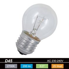 D45 Tropfen 25W klar  E27 1x 25 Watt, 25 Watt, 200,0 Lumen