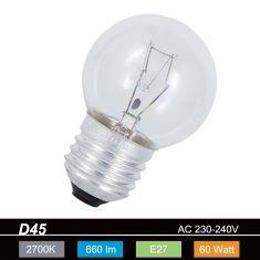D45 Tropfen 60W klar  E27 1x 60 Watt, 60 Watt, 660,0 Lumen