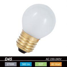 D45 Tropfen 60W  Innen mattiert  E27 1x 60 Watt, E, 60 Watt, 660,0 Lumen