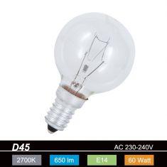 D45 Tropfen klar 60W E14 1x 60 Watt, 60 Watt, 650,0 Lumen